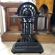 Sale 8795K - Lot 23 - A large cast iron umbrella or stick stand