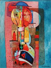 Sale 8867 - Lot 536 - Henryk Szydlowski (1950-) - Fortune Teller and the Moon 98 x 73.5 cm