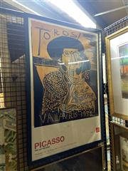 Sale 8895 - Lot 2076 - (3 works) AGNSW Posters by Jeffrey Smart, Pablo Picasso and Masterpieces from the Doria Pamphilj Gallery Rome