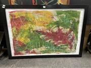 Sale 8910 - Lot 2073 - Artist Unknown - Abstract mixed media on paper, 67 x 97cm (frame), unsigned -