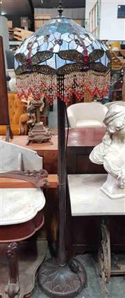 Sale 8925 - Lot 1099 - A tiffany style dragonfly decorated floor lamp