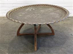 Sale 9151 - Lot 1401 - Fold out Brass top Table