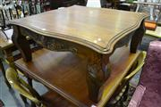 Sale 8105 - Lot 1083 - Serpentine Edge Occasional Table w Carved Sides & Legs
