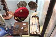 Sale 8330T - Lot 155 - Fez Hat with Other Wares incl Brass Ship Bookends