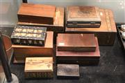 Sale 8340 - Lot 79 - Vintage Timber Boxes