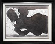 Sale 8427 - Lot 553 - Charles Blackman (1928 - ) - Lovers 74.5 x 99cm