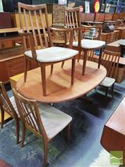 Sale 8451 - Lot 1053 - G-Plan teak table and 6 chairs