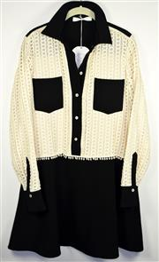 Sale 8460F - Lot 60 - A See by Chloé black and cream shirt dress with double breast pockets, size 12/14, as new