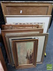Sale 8491 - Lot 2043 - Collection of Assorted Artworks including original oil paintings, mixed media works, watercolours, etc (framed/various sizes)