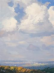 Sale 8583 - Lot 572 - Warwick Fuller (1948 - ) - Storm Clouds, Carlingford 59.5 x 44.5cm