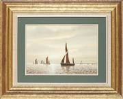 Sale 8789 - Lot 2034 - Roy Bull - Calm Waters 25 x 35cm