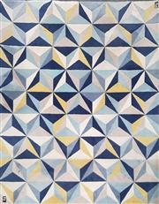 Sale 8859 - Lot 1055 - Modern Geometric Rug in Blue, Yellow and White (335 x 245cm)