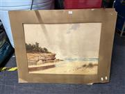 Sale 8910 - Lot 2097 - Gladstone Eyre - Beach Scenewatercolour (AF), 43 x 60cm (mounted,unframed), signed lower right -