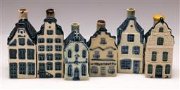 Sale 9136 - Lot 236 - A set of 6 KLM Houses (some damage and losses to stoppers)