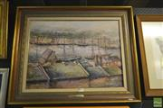 Sale 8250C - Lot 2024 - Aubrey Eden Stapleton, The Quay, 1870, oil on board, 45 x 60cm, signed lower right