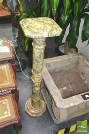 Sale 8272 - Lot 1015 - Italian Carrara Marble Pedestal