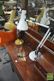 Sale 8326 - Lot 1243 - Two Adjustable Desk Lamps