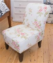 Sale 8380A - Lot 77 - A floral upholstered bedroom chair in coarse linen