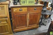 Sale 8392 - Lot 1064 - Timber 2 Door 2 Drawer Cabinet