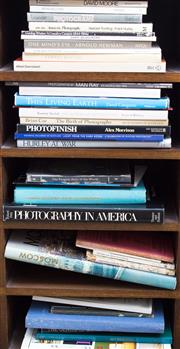 Sale 8440A - Lot 31 - Four shelf lots of books mainly on photography including Photofinish by Alex Morrison