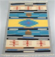 Sale 8438K - Lot 68 - Jaipur Veggie Dye Kilim Rug   180x120cm, Pure Wool, Handwoven in Rajasthan, India with a pure NZ wool composition. Fully reversible ...