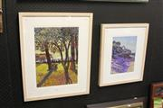 Sale 8468 - Lot 2065 - Nick Hollo (XX - ) (2 works) - Landscapes, 2003 frame size: 61 x 45cm; 49 x 40cm