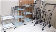 Sale 8593A - Lot 160 - A quantity of useful wares including ladders, drying racks, step stools, trolleys, etc