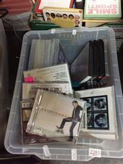 Sale 8659 - Lot 2283 - Box of CDs & DVDs incl. Beatles