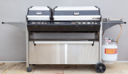 Sale 8677B - Lot 1000 - Turbo seven burner BBQ with cover
