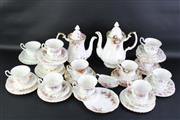 Sale 8835 - Lot 291 - Collection of Royal Albert Trios Together with Two Teapots