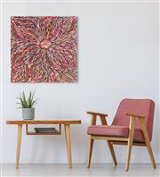 Sale 8971A - Lot 5097 - Janet Golder Kngwarreye (1973 - ) - Yam Leaf 60 x 57 cm (stretched and ready to hang)