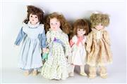Sale 8894 - Lot 32 - Group of Hillview Lane Porcelain Dolls (4)