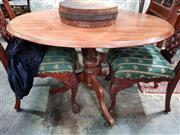 Sale 8925 - Lot 1091 - An oval top tilting rustic centre table on tripod base