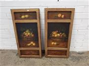 Sale 9091 - Lot 2064 - Pair of C19th Style Oil Paintings on panel depicting Fruit, (h:79 x w:39cm)