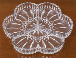 Sale 9140H - Lot 41 - A Waterford crystal three part relish tray in the lismore pattern, Diameter 24cm