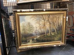 Sale 9176 - Lot 2159 - Artist Unknown, Forest Brook, Oil, SLL, 43x63