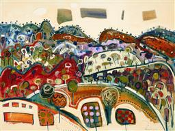 Sale 9214 - Lot 582 - STEWART WESTLE (1952 - ) Countryscape oil on canvas 92 x 122 cm signed lower right