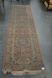 Sale 7981A - Lot 1039 - Eastern Style Runner with Floral Theme on Pink Field (80 x 300cm)