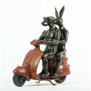 Sale 8259 - Lot 522 - Gillie and Marc (XX) - They were the authentic vespa riders 23 (h) x 9 (d) x 21cm (w)