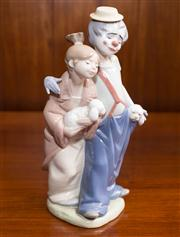 Sale 8313A - Lot 66 - A Lladro Collectors Society figure of a clown and a girl with two puppies incised 7686, height 23cm