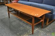 Sale 8409 - Lot 1040A - Teak Coffee Table with Small Inlayed Detail