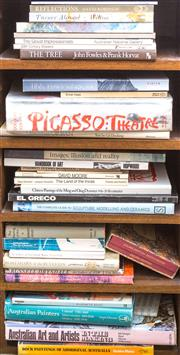 Sale 8440A - Lot 32 - Four shelf lots of art books including Picasso: Theatre by Douglas Cooper