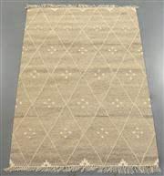 Sale 8438K - Lot 69 - Jaipur Veggie Dye Kilim Rug   180x120cm, Pure Wool, Handwoven in Rajasthan, India with a pure NZ wool composition. Fully reversible ...