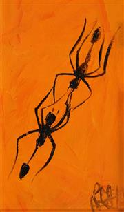 Sale 8565 - Lot 590 - Kevin Charles (Pro) Hart (1928 - 2006) - Two Ants, c1980s 8 x 14cm
