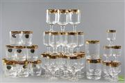 Sale 8599 - Lot 11 - Czech Gold Embossed Rim Drinking Suite