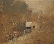 Sale 8683A - Lot 5051 - Robert Hagan (1947 - ) - Cottage on the Hill, Kurrajong 37 x 44cm