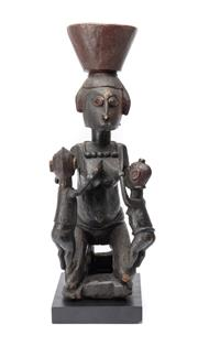 Sale 8864 - Lot 36 - Baga Mother and Children (Coastal Guinea) - Carved Wood