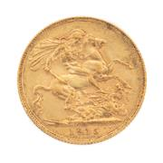Sale 8855H - Lot 66 - 1915 gold sovereign weight approx 7.95g, P above 1915