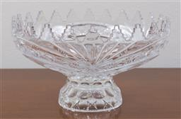 Sale 9140H - Lot 13 - A Bohemian glass raised comport with floral and butterfly decoration, Diameter 28cm