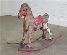 Sale 9188 - Lot 1010 - Vintage Mobo Tin horse converted to rocking (h:80 l:100 w:39cm)